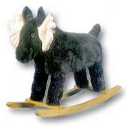 Mildred the Moose Plush Kid's Rocker
