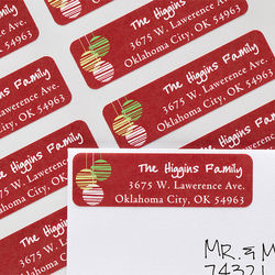 Christmas Ornaments Personalized Return Address Labels