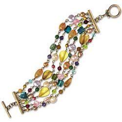 Kaleidoscope Mosaic Beaded Bracelet