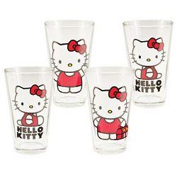 Hello Kitty Pint Glass Set