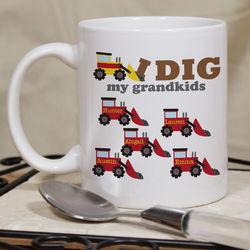 Personalized I Dig Mug