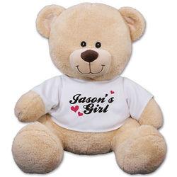 Personalized My Girl Teddy Bear