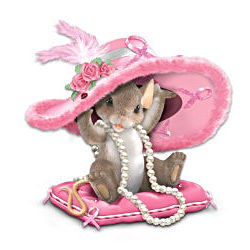 Hats Off To A Cure Breast Cancer Awareness Figurine
