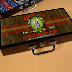 Personalized Long Drive Designed Poker Set
