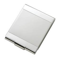 Personalized 2 Tone Silver Flip Open Cigarette Case