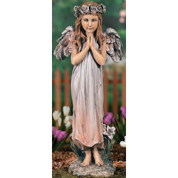 Praying Angel with Rose Halo