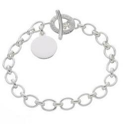 Silver Disc Charm Bracelet