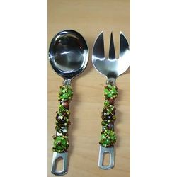Serving Salad Spoons with Glass