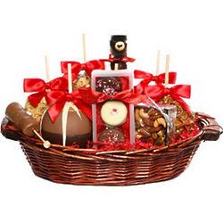 Ultimate Valentine's Day Caramel Apple Gift Basket