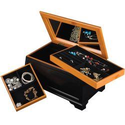 Petra Cedar and Black Jewelry Box