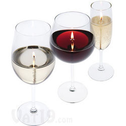 Wine and Champagne Glass Candle