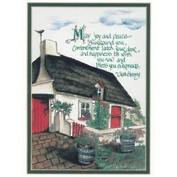 May Joy and Peace Irish Blessing Matted Print