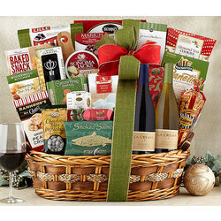 La Crema Wine Holiday Delight Assortment Gift Basket