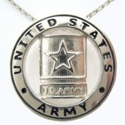 Sterling Silver US Army Pendant