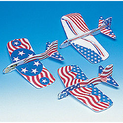 Patriotic Foam Gliders