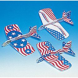 Patriotic Foam Gliders