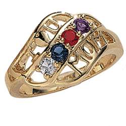 Mother's Bypass Birthstone Ring