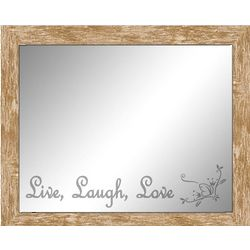 Live, Laugh, Love Reflective Moments Inspirational Mirror