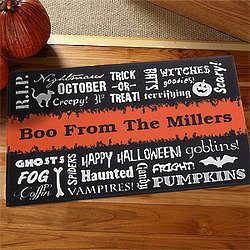 Personalized Halloween Words Doormat