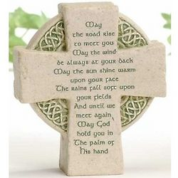 Irish Blessing Celtic Cross Plaque