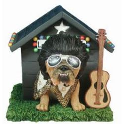 Love Me Tender Dog House Musical Figurine