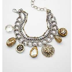 Up-Cycled Antique Silver Vintage Charm Bracelet