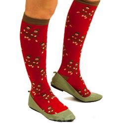 Sock Monkey Knee Socks