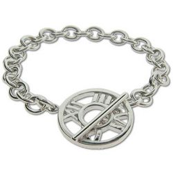 Tiffany Inspired Atlas Toggle Bracelet