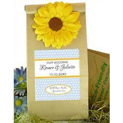 Earth Friendly Wildflower Wedding Favor Bags