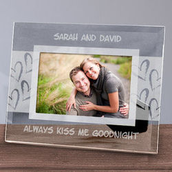 Always Kiss Me Goodnight Glass Frame