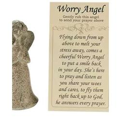 Worry Angel Figurine with Prayer Card