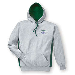 Personalized Contrast Hooded Sweatshirt