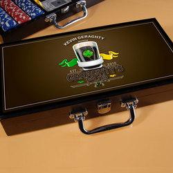 Personalized Irish Pub Design Poker Set