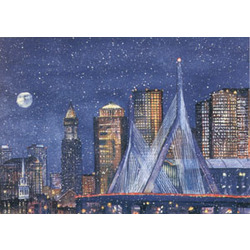 Zakim Bridge, Boston Note Cards