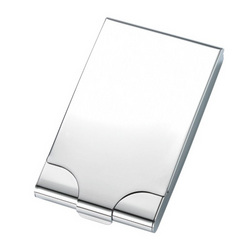 Personalized Silver Flip Open Cigarette Case