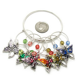 Butterfly Theme Wine Charms