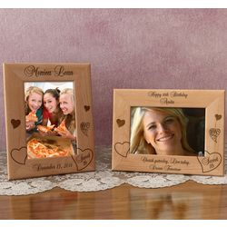 Personalized My Sweet 16 Wooden Picture Frame