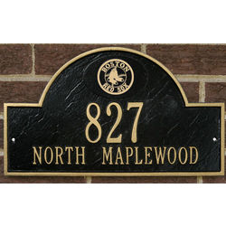 Boston Red Sox Personalized Address Plaque