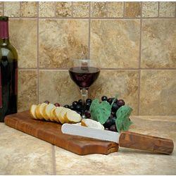 Amuse-Bouche Wine Shaped Breadboard with Built-In Knife