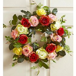 Handcrafted Faux Rose Wreath