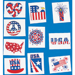 Patriotic Glitter Tattoos