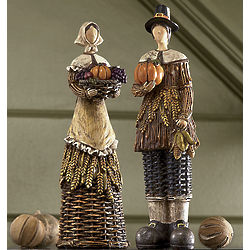 Harvest Pilgrim Figurines