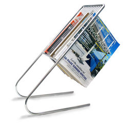 Chrome Finish Float Magazine Rack