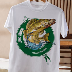 Fisherman Personalized Adult T-Shirt