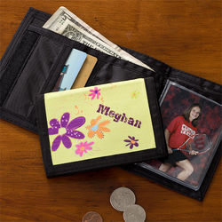 Flower Power Personalized Wallet