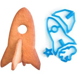 3D Space Rocket Cookie Cutter