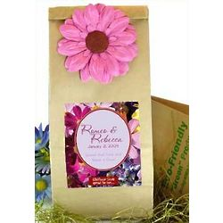 Floral Design Earth Friendly Wildflower Wedding Favor Bags