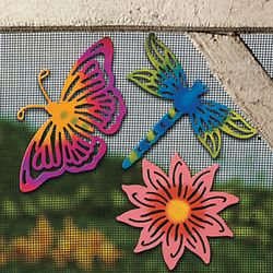 Magnetic Butterfly, Dragonfly & Flower Accents