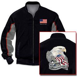 Veteran's Salute Men's Jacket with Eagle Art