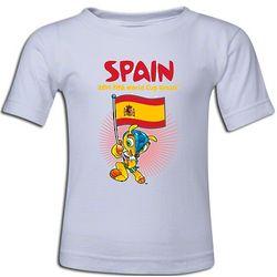 2014 FIFA World Cup Mascot and Spain Flag T-Shirt